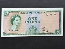 Jamaica 1 Pound P51 Signature 1 Payton Law 1960 Issued 1961 aEF