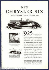 1930 CHRYSLER advertisement, Chrysler Convertible Coupe