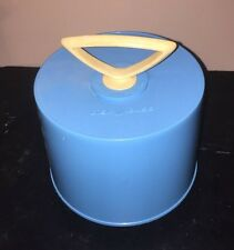 "Vintage Blue 45 RPM 7"" Record Tote DiSK-GO-CASE by Charter Industries Inc. N. Y"