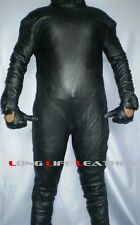 Custom Size Color Zipper Bespoke Tailor Made Leather Catsuit Brand New #2913