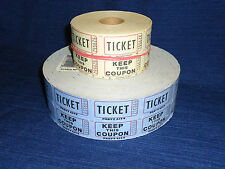 Numbered RAFFLE TICKETS 2000 + TICKET KEEP THIS COUPON Double  TEAR OFF Rolls