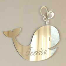 Personalised Whale Door Name Plaque Boy or Girls Bedroom Room Sign
