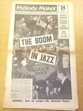 MELODY MAKER 1958 MARCH 29 LOUIS ARMSTRONG MALCOLM VAUGHAN JAZZ BIG BAND SWING