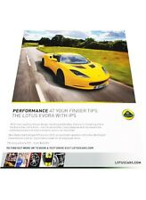 2012 2013 Lotus Evora IPS Original Advertisement Print Car Ad J446