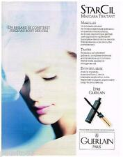 PUBLICITE ADVERTISING 095  1990  GUERLAIN  maquillage mascara STARCIL