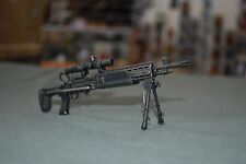"Hot Toys 1/6 Black M14 SOCOM Rifle w/ Scope Bipod for 12"" Figures W-61"