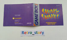Nintendo Game Boy Sneaky Snakes Notice / Instruction Manual