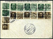 Besetzung Zara Propaganda Marken auf Umschlag 1943 geprüft (S10481)