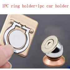 Mobile Cell Phone Grip Finger Metal+Car 360 Magnet Adsorb Holder Stand Lot