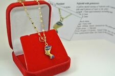 18ct gold necklace with Egyptian Queen Nefertiti  pendant and COA no 16