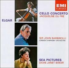 Elgar: Cello Concerto; Sea Pictures (CD, EMI Import) Du Pre, Dame Janet Baker