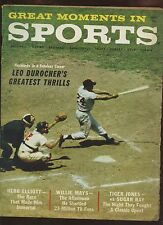 September 1961 Great Moment In Sports Baseball With Willie Mays Cover VG