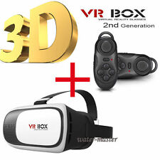 [3D 2nd VR Box]Glasses View Movie Game Samsung Galaxy S7 Edge +Remote Controller