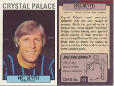 091 MEL BLYTH CRYSTALE PALACE ENGLAND CARD FOOTBALLER 1972 PURPLE BACK AB&C
