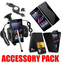 7 X Accessory Bundle Kit per Sony Xperia Z1 Compact + Custodia Car Holder Caricabatterie