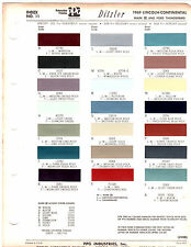 1969 FORD THUNDERBIRD LINCOLN MARK III CONTINENTAL 69 PAINT CHIPS DITZLER 5