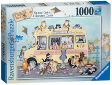 19700 Ravensburger Crazy Cats - Vintage Sunset Ices Jigsaw 1000pc Puzzle