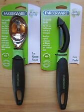 Farberware Ice Cream Scoop & Euro Peeler Eco Friendly Handle Set of 2 Brand New!