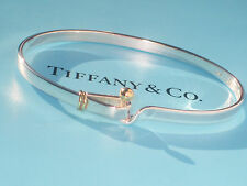 Tiffany & Co 18ct 18K Sterling Silver 925 Hook & Eye Bracelet Bangle