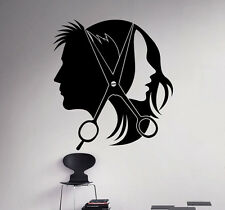Hair Salon Wall Decal Vinyl Sticker Barber Shop Interior Window Decor 20(nse)