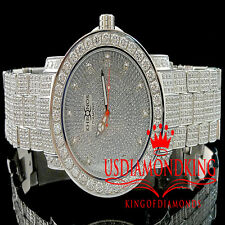 Mens Iced Out 1 Row Bezel White Khronos Jojino Joe Rodeo Genuine Diamond Watch