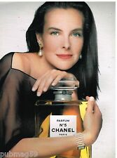 Publicité Advertising 1991 Parfum N°5 de Chanel Carole Bouquet