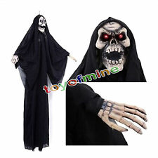 Negro Bruja Colgante animado de Halloween Prop Haunted House Yard Decor Scary