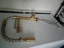 GOLD COLOR Brass 8-Inch Single Handle Kitchen Faucet w/Pull-Down Sprayer