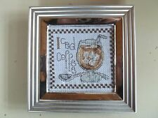 Embroidered Handcrafted Framed Iced Coffee Picture