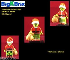 GRINCH Christmas Custom LEGO Minifigure with Custom NO DECALS USED!
