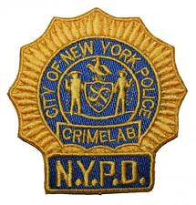 C.S.I. CSI NYPD Crime Lab Embroidered Patch Sew/Iron-on 9cm Badge