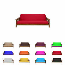 Futon Mattress Cover Solid Color Choose Color and Size Twin Full Queen