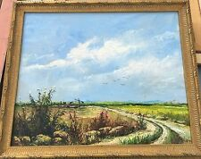 Szolnok School Landscape Oil Painting - signed - follower of Lajos Deak-Ebner