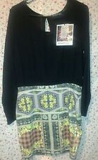 Minkpink cast no shadow dress with sheer black sleeves above the knee size l