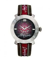 Marc Ecko The Emp Mens Watch E09517G2 with Brown Dial and Burgandy Strap