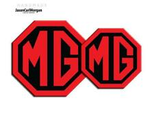 MG TF LE500 Badge Inserts Front Grill Rear Boot Logo Badges 70mm 90mm Black Red
