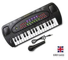 ELECTRONIC KEYBOARD Musical Instrument Piano Mic Kids Birthday Gift + MICROPHONE