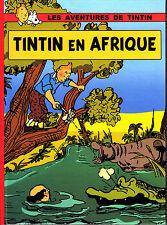 HOMMAGE A HERGE PASTICHE PARODIE TINTIN EN AFRIQUE ALBUM EN COULEURS