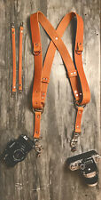 Dual Camera Harness Multicamera Shoulder Strap Leather Camera Harness