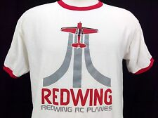 Redwing RC Planes Men T Shirt Swag 3D Retro Look Promo Advertisment Anvil Large