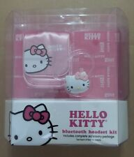 Hello Kitty KT4700 Bluetooth Headset Kit with USB Charger, Earclip, Car Charger