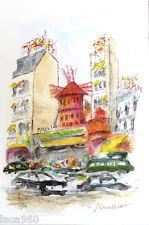Urbain HUCHET Moulin Rouge Paris Signed Original Lithograph