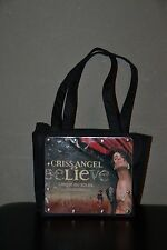 "Criss Angel Believe Cirque Du Soleil Program Handbag Purse Black 7"" x 6.5"" x 3"""