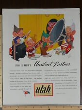 Rare Original VTG Utah Radio Food Machinery Corp Color Advertising Art Print