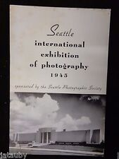 1945 Brochure Program THE SEATTLE INTERNATIONAL EXHIBITION OF PHOTOGRAPHY NUDE