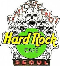 Hard Rock Cafe SEOUL 1997 HALLOWEEN PIN 5 Screaming SKULLS - HRC Catalog #8602