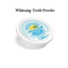 100% NATURAL Whitening Tooth Powder with lemon & peppermint oil, 75g