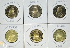 2000-2005-S SACAGAWEA NATIVE AMERICAN PROOF DOLLARS HALF DECADE RUN SET 6x COINS