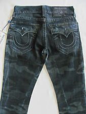 True Religion Straight w/ Flaps Jeans - Laser Resilient Camo -Size 29 - NWT $268