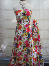 "45"" (120 cms) WIDE 100% COTTON BRIGHT FLORAL PRINT DRESS FABRIC"